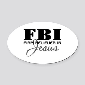 FBI_4Light Oval Car Magnet